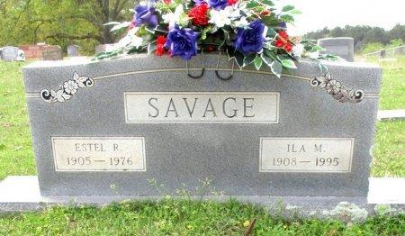 SAVAGE, ESTEL R. - Cass County, Texas | ESTEL R. SAVAGE - Texas Gravestone Photos