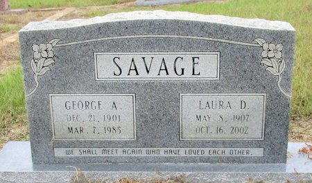 SAVAGE, GEORGE A. - Cass County, Texas | GEORGE A. SAVAGE - Texas Gravestone Photos