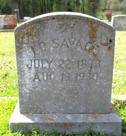 SAVAGE, I. O.  - Cass County, Texas   I. O.  SAVAGE - Texas Gravestone Photos