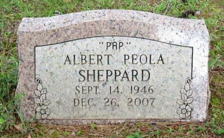 SHEPPARD, ALBERT PEOLA - Cass County, Texas | ALBERT PEOLA SHEPPARD - Texas Gravestone Photos