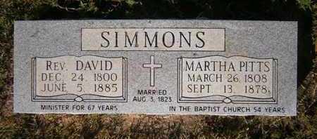 PITTS SIMMONS, MARTHA - Cass County, Texas   MARTHA PITTS SIMMONS - Texas Gravestone Photos