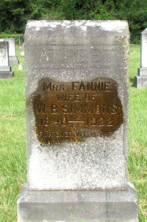 SIMMONS, FANNIE - Cass County, Texas   FANNIE SIMMONS - Texas Gravestone Photos