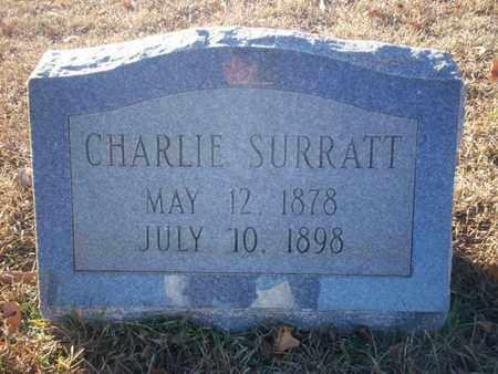 SURRATT, CHARLIE - Cass County, Texas | CHARLIE SURRATT - Texas Gravestone Photos