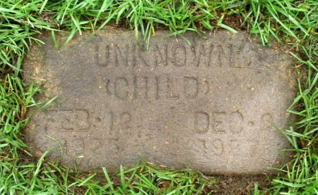 UNKNOWN, CHILD - Cass County, Texas   CHILD UNKNOWN - Texas Gravestone Photos