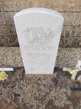 ZAMBONI (VETERAN POW), GIULIO - Castro County, Texas | GIULIO ZAMBONI (VETERAN POW) - Texas Gravestone Photos