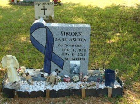 SIMONS, ZANE ASHTEN - Cherokee County, Texas | ZANE ASHTEN SIMONS - Texas Gravestone Photos
