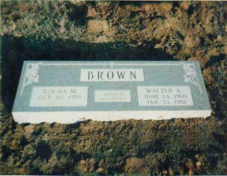 BROWN, WALTER A - Clay County, Texas | WALTER A BROWN - Texas Gravestone Photos