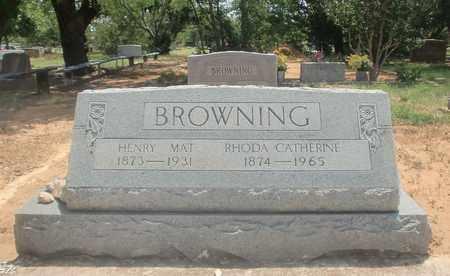 BROWNING, RHODA CATHERINE - Clay County, Texas   RHODA CATHERINE BROWNING - Texas Gravestone Photos