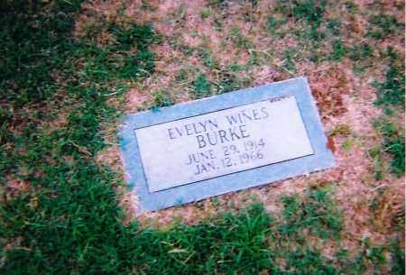 WINES BURKE, EVELYN - Clay County, Texas | EVELYN WINES BURKE - Texas Gravestone Photos