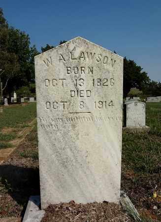 LAWSON, W A - Clay County, Texas   W A LAWSON - Texas Gravestone Photos