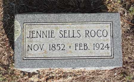 SELLS ROCO, JENNIE - Clay County, Texas | JENNIE SELLS ROCO - Texas Gravestone Photos