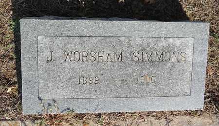 SIMMONS, J WORSHAM - Clay County, Texas | J WORSHAM SIMMONS - Texas Gravestone Photos