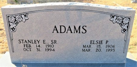 ADAMS, SR., STANLEY E. - Coke County, Texas | STANLEY E. ADAMS, SR. - Texas Gravestone Photos