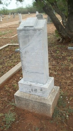 TATE, MARY ANN - Coke County, Texas | MARY ANN TATE - Texas Gravestone Photos