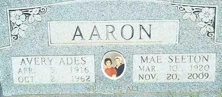 AARON, AVERY ADES - Coleman County, Texas | AVERY ADES AARON - Texas Gravestone Photos