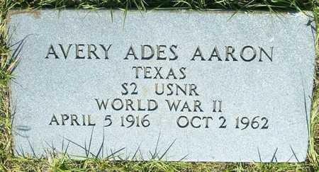 AARON (VETERAN WWII), AVERY ADES - Coleman County, Texas | AVERY ADES AARON (VETERAN WWII) - Texas Gravestone Photos