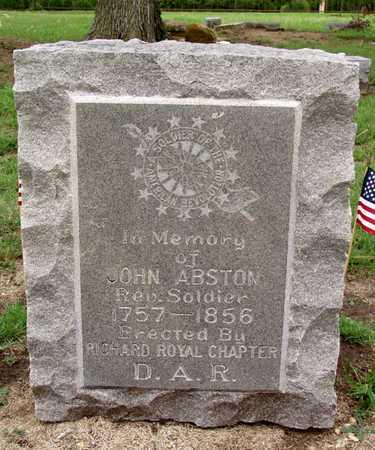 ABSTON (VETERAN RW), JOHN - Collin County, Texas | JOHN ABSTON (VETERAN RW) - Texas Gravestone Photos