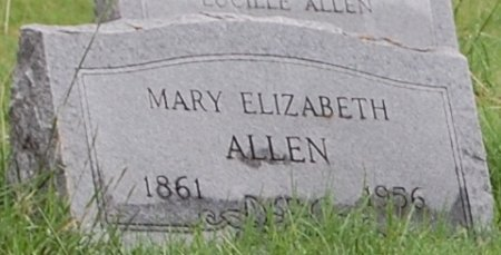 "ALLEN, MARY ELIZABETH ""LIZZIE"" - Collin County, Texas | MARY ELIZABETH ""LIZZIE"" ALLEN - Texas Gravestone Photos"