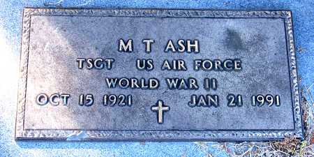 ASH (VETERAN WWII), M. T. - Collin County, Texas | M. T. ASH (VETERAN WWII) - Texas Gravestone Photos