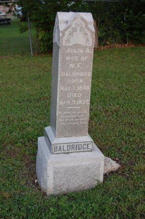 BALDRIDGE, JULIA A. - Collin County, Texas | JULIA A. BALDRIDGE - Texas Gravestone Photos