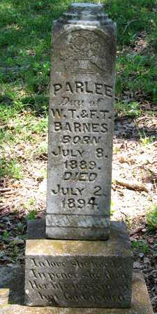 BARNES, PARLEE - Collin County, Texas | PARLEE BARNES - Texas Gravestone Photos