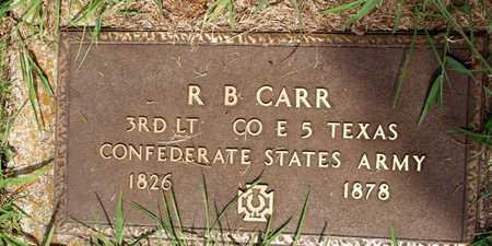 CARR (VETERAN CSA), R B - Collin County, Texas   R B CARR (VETERAN CSA) - Texas Gravestone Photos