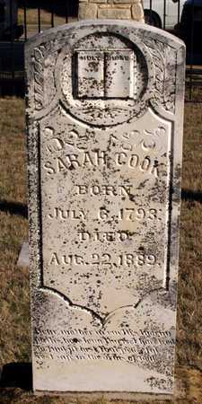COOK, SARAH - Collin County, Texas | SARAH COOK - Texas Gravestone Photos