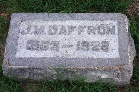 DAFFRON, J. M. - Collin County, Texas   J. M. DAFFRON - Texas Gravestone Photos