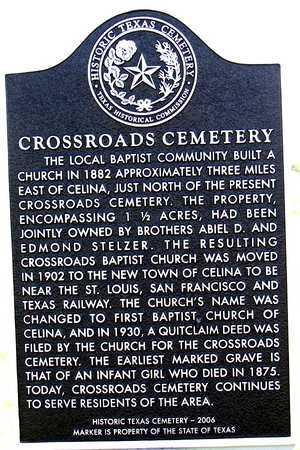 *HISTORIC TX CEMETERY MARKER, CROSSROADS CEMETERY - Collin County, Texas | CROSSROADS CEMETERY *HISTORIC TX CEMETERY MARKER - Texas Gravestone Photos