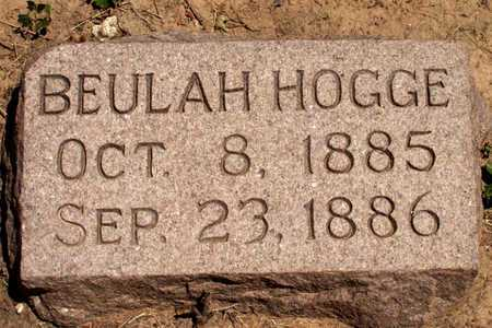 HOGGE, BEULAH - Collin County, Texas | BEULAH HOGGE - Texas Gravestone Photos