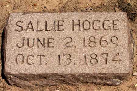 HOGGE, SALLIE - Collin County, Texas | SALLIE HOGGE - Texas Gravestone Photos