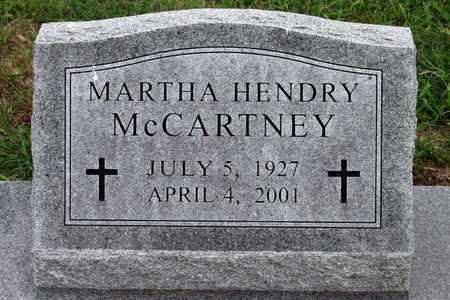 HENDRY MCCARTNEY, MARTHA - Collin County, Texas | MARTHA HENDRY MCCARTNEY - Texas Gravestone Photos