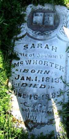 MCWHORTER, SARAH - Collin County, Texas   SARAH MCWHORTER - Texas Gravestone Photos