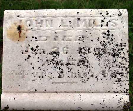 MILLS, JOHN L. (CLOSEUP) - Collin County, Texas | JOHN L. (CLOSEUP) MILLS - Texas Gravestone Photos