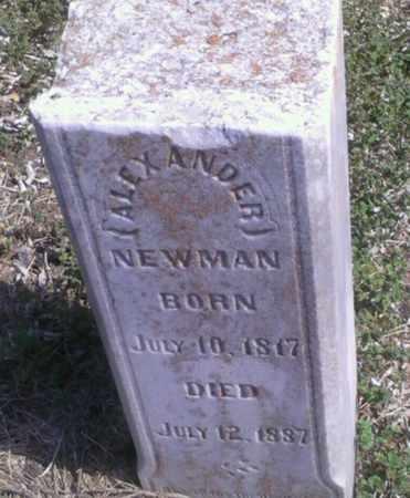 NEWMAN, ALEXANDER - Collin County, Texas   ALEXANDER NEWMAN - Texas Gravestone Photos