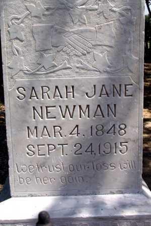 NEWMAN, SARAH JANE (CLOSEUP) - Collin County, Texas   SARAH JANE (CLOSEUP) NEWMAN - Texas Gravestone Photos