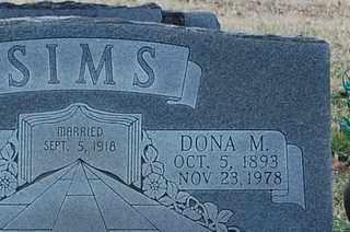 MONK SIMS, DONA M - Collin County, Texas | DONA M MONK SIMS - Texas Gravestone Photos