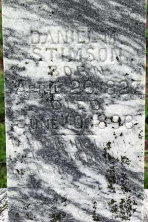 STIMSON, DANIEL M. (CLOSEUP) - Collin County, Texas | DANIEL M. (CLOSEUP) STIMSON - Texas Gravestone Photos
