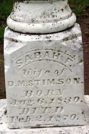 STIMSON, SARAH F. (CLOSEUP) - Collin County, Texas | SARAH F. (CLOSEUP) STIMSON - Texas Gravestone Photos