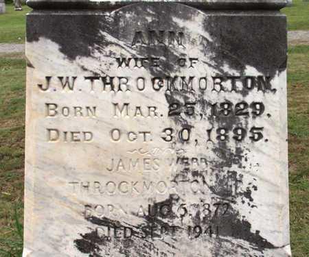 THROCKMORTON JR, JAMES WEBB (CLOSEUP) - Collin County, Texas   JAMES WEBB (CLOSEUP) THROCKMORTON JR - Texas Gravestone Photos