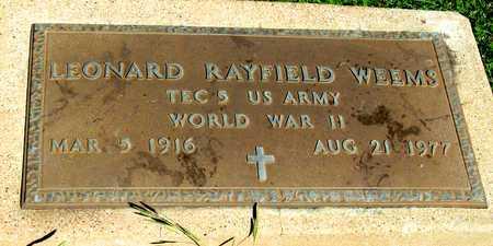 WEEMS (VETERAN WWII), LEONARD RAYFIELD - Collin County, Texas | LEONARD RAYFIELD WEEMS (VETERAN WWII) - Texas Gravestone Photos