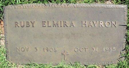 HAVRON, RUBY ELMIRA - Collingsworth County, Texas | RUBY ELMIRA HAVRON - Texas Gravestone Photos