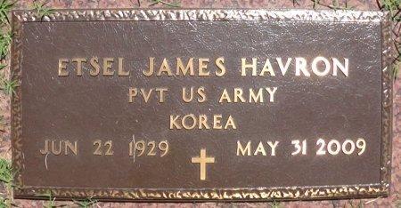 HAVRON (VETERAN KOR), ETSEL JAMES - Collingsworth County, Texas | ETSEL JAMES HAVRON (VETERAN KOR) - Texas Gravestone Photos