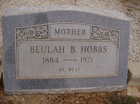RODDEN HOBBS, BEULAH BESSIE - Collingsworth County, Texas | BEULAH BESSIE RODDEN HOBBS - Texas Gravestone Photos