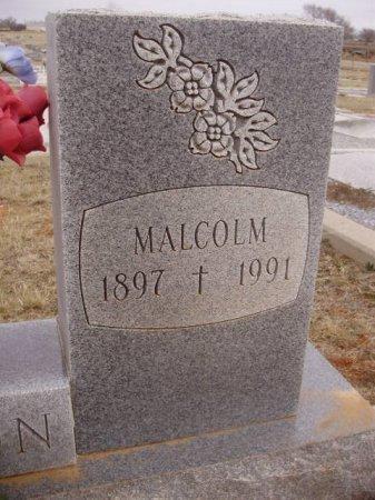 HORTON, MALCOLM (CLOSEUP) - Collingsworth County, Texas | MALCOLM (CLOSEUP) HORTON - Texas Gravestone Photos