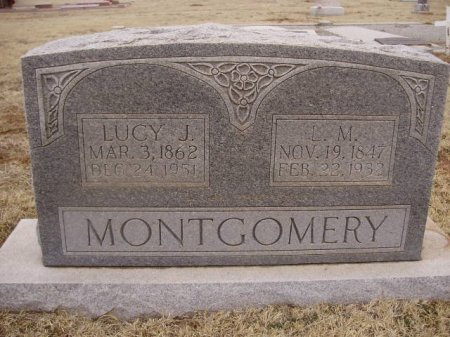 MONTGOMERY, LUCY JANE - Collingsworth County, Texas | LUCY JANE MONTGOMERY - Texas Gravestone Photos