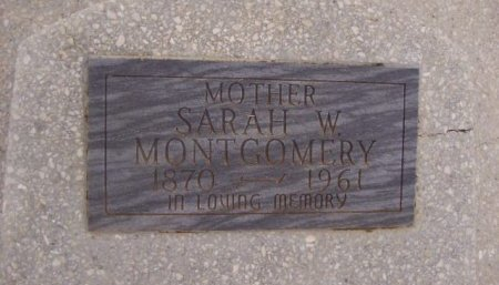 MONTGOMERY, SARAH WALTON - Collingsworth County, Texas | SARAH WALTON MONTGOMERY - Texas Gravestone Photos