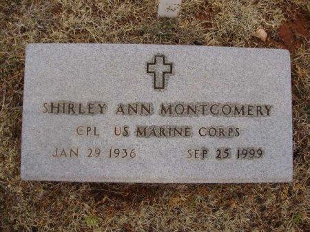 MONTGOMERY (VETERAN), SHIRLEY ANN - Collingsworth County, Texas | SHIRLEY ANN MONTGOMERY (VETERAN) - Texas Gravestone Photos