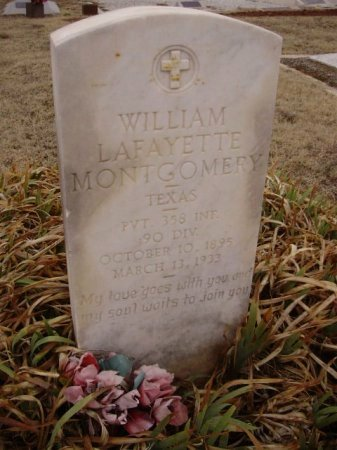 MONTGOMERY (VETERAN), WILLIAM LAFAYETTE - Collingsworth County, Texas | WILLIAM LAFAYETTE MONTGOMERY (VETERAN) - Texas Gravestone Photos