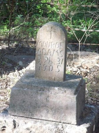 ADAMS, MONROE - Comal County, Texas | MONROE ADAMS - Texas Gravestone Photos
